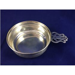"""Rare &  Early George K. Webster Silver Company Sterling Silver """" Nursery Rhyme"""" Porringer Dish with"""