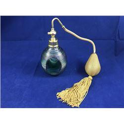 Stunning Vintage Art Glass Pefume Bottle with Spray Atomizer - Possibly Murano (Bulb & Atomizer work