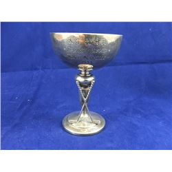 1933 Sterling Silver Gold Trophy Engraved: KCACA Championship Mrs H Mcdonald 1933 - 100mm Tall - 58