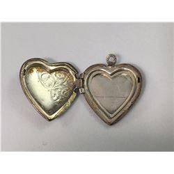 Vintage Sterling Silver Opening Heart Sweet Hearts Photo Locket - 24mm Long