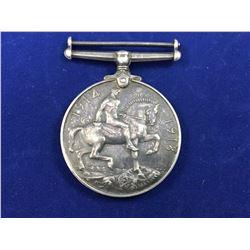 World War I - British War Medal in Sterling Silver To : James Guthrie 21819 NZEF