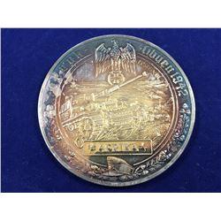 Rare Silver German Medallion Afrika - Tobruk  - Christian Zentner Collection- Diameter 50mm - Weight