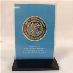1946-1971 Sterling Silver Proof Coin United Nations Childrens Fund