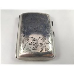 1918 Chester, England Sterling Silver Cigarette Case - 80mm x 55mm - 46.94 Grams
