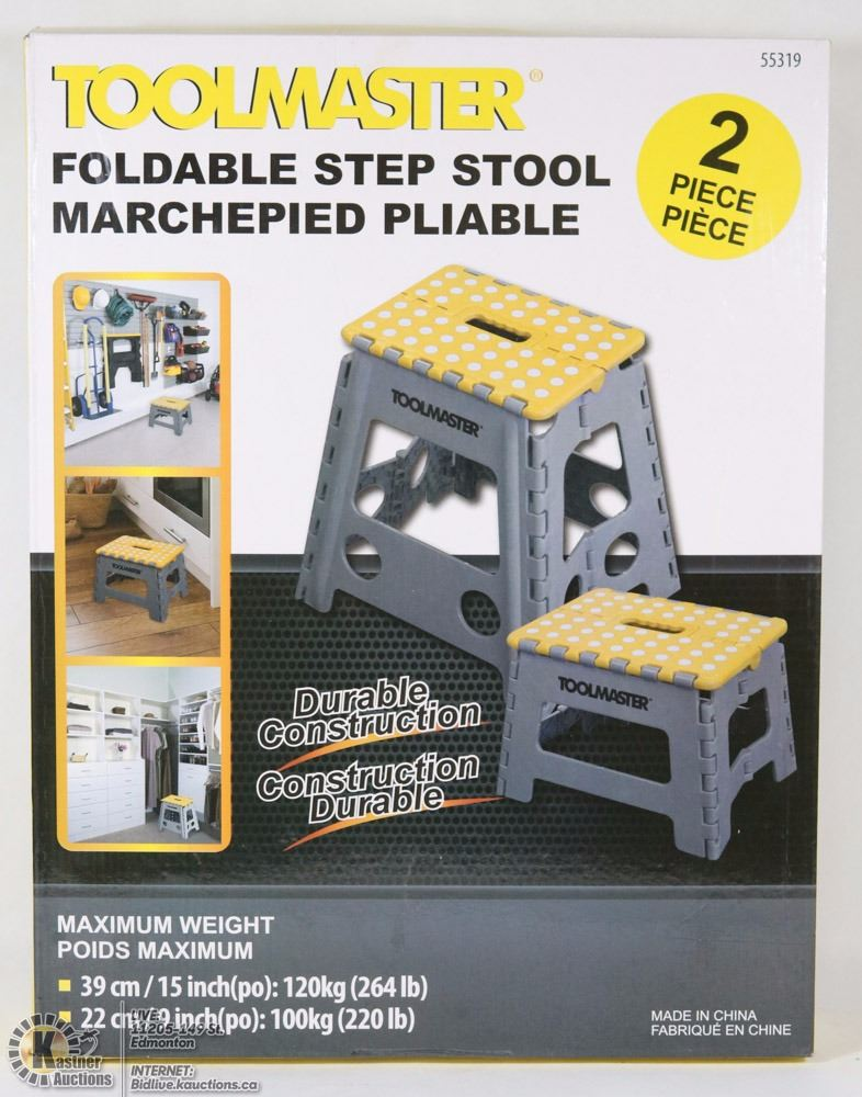 Fantastic New Toolmaster 2 Pc Folding Step Stool Onthecornerstone Fun Painted Chair Ideas Images Onthecornerstoneorg