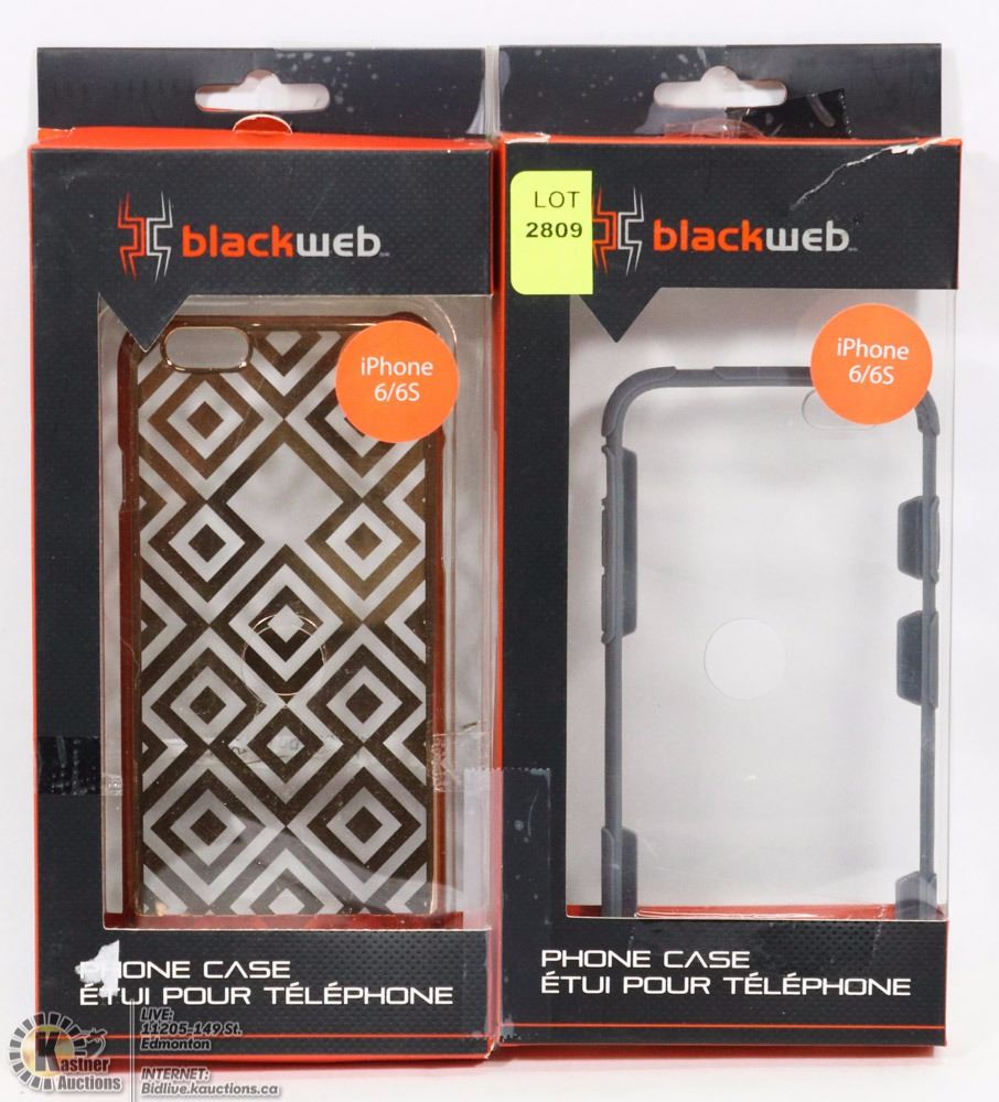 new style 039f7 521ba TWO BLACKWEB PHONE CASES FOR IPHONE 6/6S