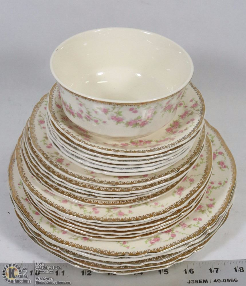 4a3824b4538fc LOT OF ALFRED MEAKIN HARMONY ROSE 1930'S CHINA