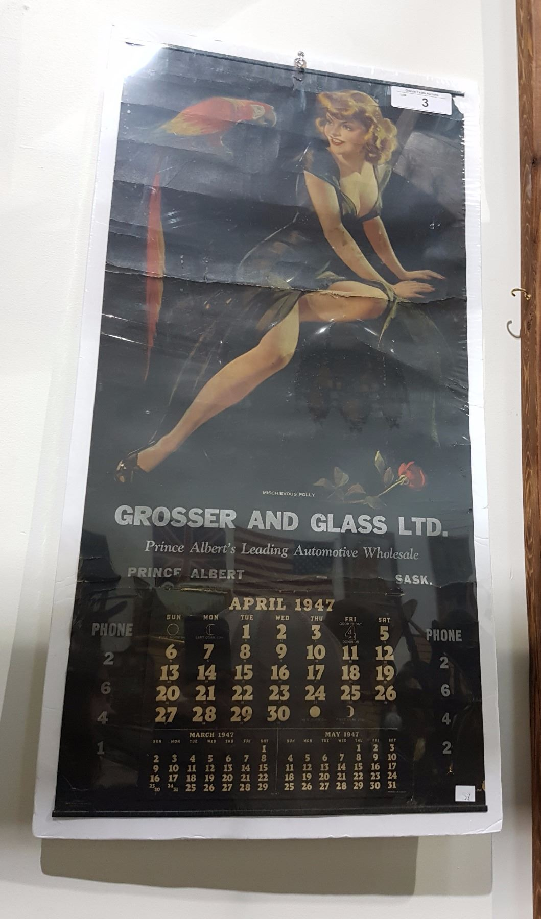Old Poster reproduction Vintage 1947 Pin up Calendar