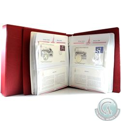 Volume 2: 1980 Moscow XXII Olympic Games First Day Cover Collection in Deluxe Red Binder. Binder con