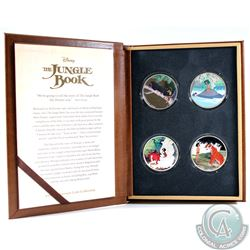 2017 Niue $2 Disney The Jungle Book 50th Anniversary 1oz Colourized Fine Silver 4-coin Set in Premiu