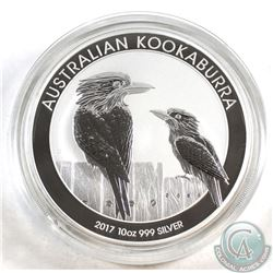 2017 Australia 10oz Kookaburra .999 Fine Silver Coin in Capsule (capsule is lightly scratched) TAX E