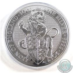 2017 Great Britain 10oz Lion of England .9999 Fine Silver Coin in Capsule (capsule is lightly scratc