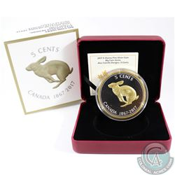 2017 Canada 5-cent Big Coin Alex Colville Design 5oz Fine Silver Coin (TAX Exempt)