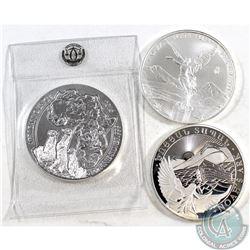 2016 Mexico Libertad, Rwanda Meerkat African Ounce & Armenia Noah's Ark 1oz .999 Fine Silver Coins (