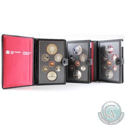 1982, 1983, 1984 Canada 7-coin Proof Double Dollar Sets. Please note the coins may contain faint ton