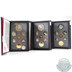 1992, 1993, 1994 Canada 7-coin Proof Double Dollar Sets. Please note coins may contain toning. 3pcs.
