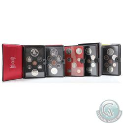 1971, 1974, 1975, 1978, & 1980 Canada 7-coin Specimen Double Dollar Sets. Please note Cases may have