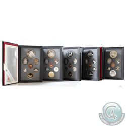 1986, 1987, 1988, 1989, & 1990 Canada 7-coin Proof Double Dollar Sets. Please note coins may be tone