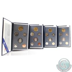 1993, 1994, 1995, 1996 Canada Specimen 6-coin Sets. 4pcs.