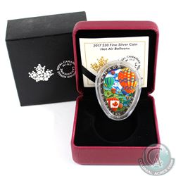 2017 Canada $20 Hot Air Balloons Fine Silver Shaped Coin (Tax Exempt)