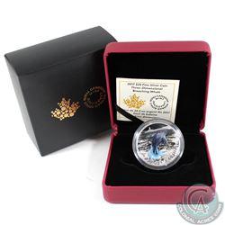 2017 Canada $20 Three-Dimensional Breaching Whale Fine Silver Coin (Tax Exempt)