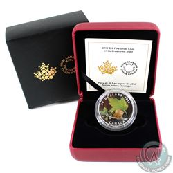 2016 Canada $20 Little Creatures - Snail With Murano Glass Fine Silver Coin (Tax Exempt)