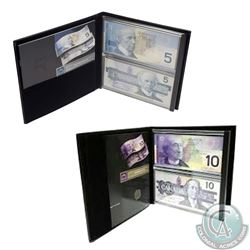 Canada $5 & $10 Lasting Impressions Sets issued by the Bank of Canada. 2pcs.