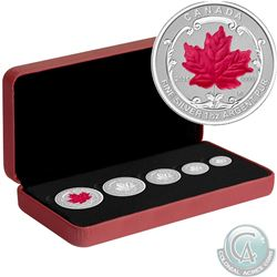 2015 Canada The Maple Leaf Fine Silver Fractional 5-coin Set (Tax Exempt)