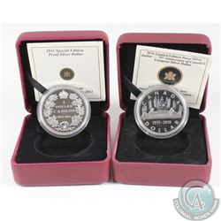 1935-2010 Lt. Ed. Proof Silver Dollar & 1911-2011 Sp. Ed. Proof Silver Dollar. Coins come encapsulat