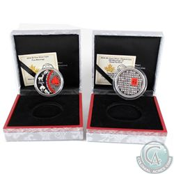 2014 Canada 50-cent Good Fortune & 2014 $5 Five Blessings Coin. Please note outer cardboard sleeves