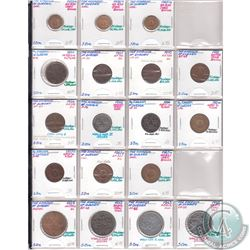 Estate Lot The Kingdom of Sweden Mixed Coin Collection. Dates range from 1873 to 1961. Page sold as