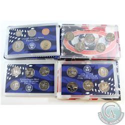 2000 Denver Mint Quarter Set, 2001 San Francisco Mint Clad Quarter Set, and 2002 Mint Proof Set. 3pc
