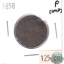 1858 Canada 1-cent Fine (Impaired)