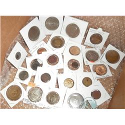 Lot of 58 Miscellaneous Medallions, Medals, Tokens, Badges, and Pins: for example 1856-1956 Union St