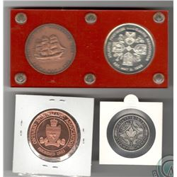 Numismatic Club Lot of 4: 1964 Ottawa Coin Club/ONA Silver Medal (Sterling Silver printed on edge);