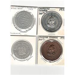 Numismatic Lot of 4: 2x ROYAL BANK • BANQUE ROYALE/NUMISMATIC EXHIBITION • EXPOSITION DE NUMISMATIQU