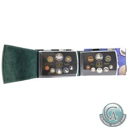 RCM lot: 1999 & 2000 Canada Proof Double Dollar Set with all Original Packaging (silver coins are li