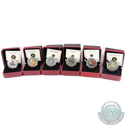 2007-2013 Canada 25-cent Coloured Bird Series Coin lot. You will receive the following coins, 2007 R