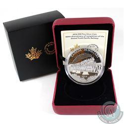 2014 Canada $30 Grand Trunk Pacific Railway Fine Silver Coin (Tax Exempt)