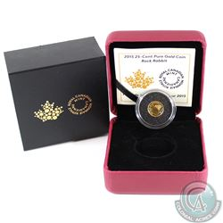 2015 Canada 25-cent Rock Rabbit 0.5g Pure Gold Coin (Tax Exempt)