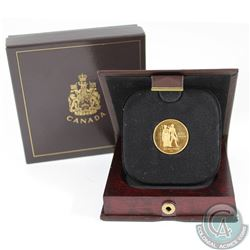 1976 Canada $100 Montreal Summer Olympic 22 Karat Gold Proof Coin.