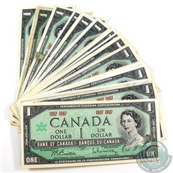 30 x 1967 $1.00 Notes with Commemorative Duel Date in Average Circulated Condition. 30pcs.