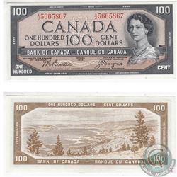 1954 Modified Portrait $100 Note in AU.