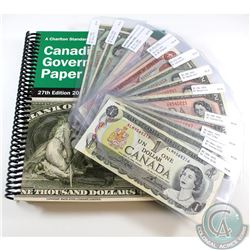 14 Different Changeover/Short Run Prefix Banknotes from the Bank of Canada. Included is a 27th Editi
