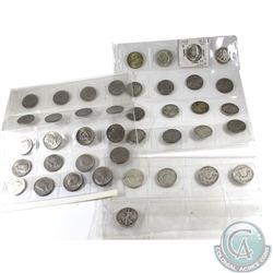 Estate Lot of United States 50-cents - Oldest date is 1875. 41pcs.