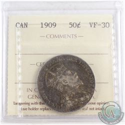 1909 Canada 50-cent ICCS Certified VF-30