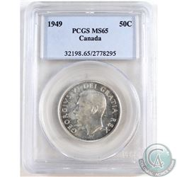 1949 Canada 50-cent PCGS Certified MS-65