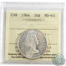 1964 Canada 50-cent ICCS Certified MS-65