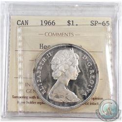 1966 Canada Dollar ICCS Certified SP-65 Heavy Cameo