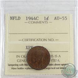 1944C NFLD 1-cent ICCS Certified AU-55